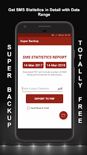 SMS, Call – XML, PDF, CSV(Super Backup & Restore) App Download for Android 5