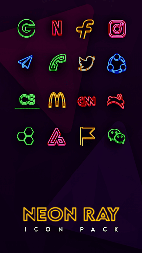 Neon Ray Icons -  Icon pack ss1