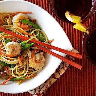 Long Life Fertility Noodles Recipe with Happy Shrimp.