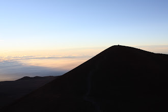 Photo: The true summit of Mauna Kea, and a sacred site for the native Hawaiians.