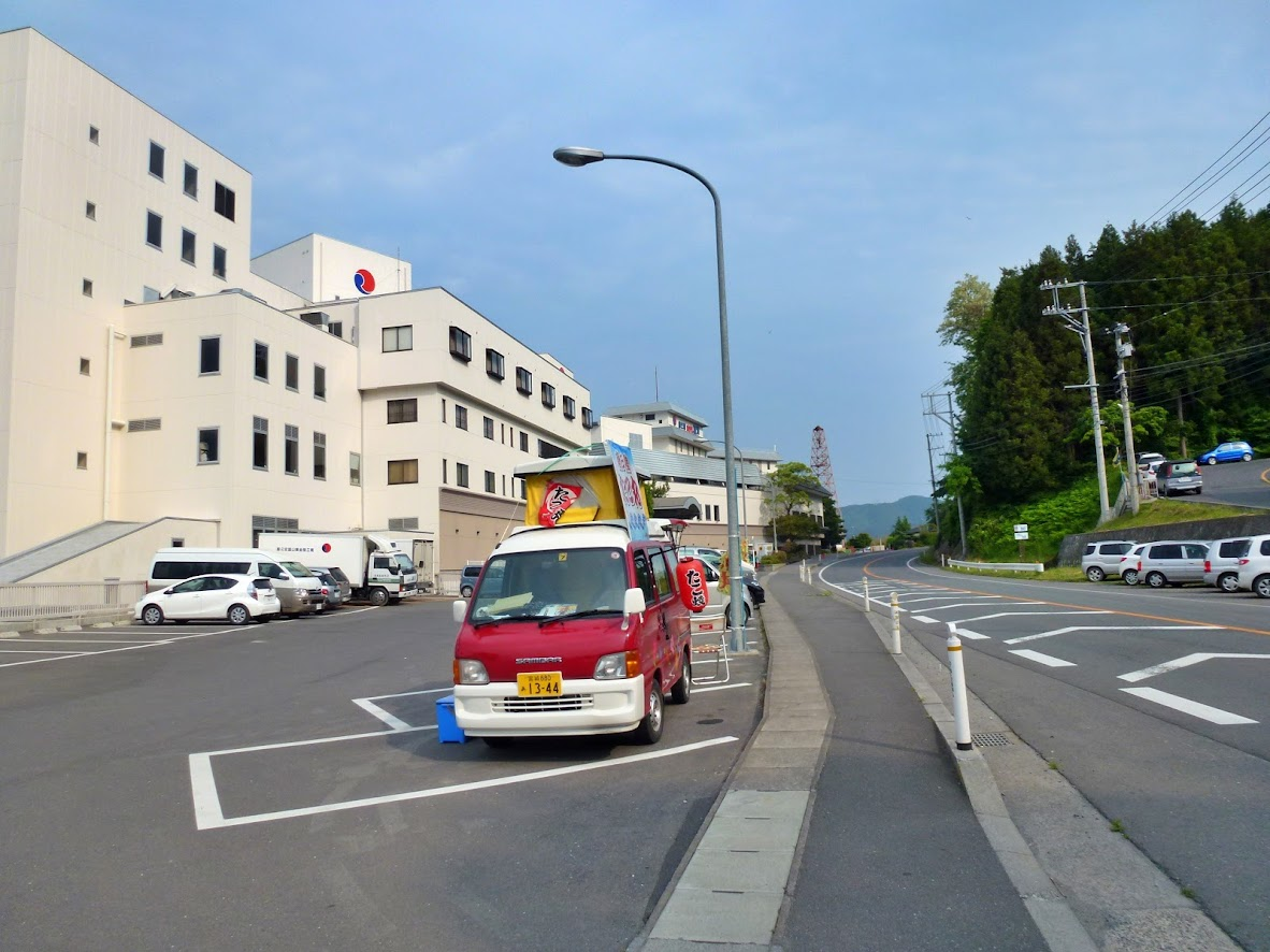 ホテル観洋とたこ焼きカー