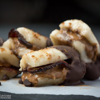 Chocolate Bacon Almond Butter Bananas