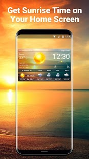 Digital clock&Weather Forecast with Sunrise Sunset - náhled