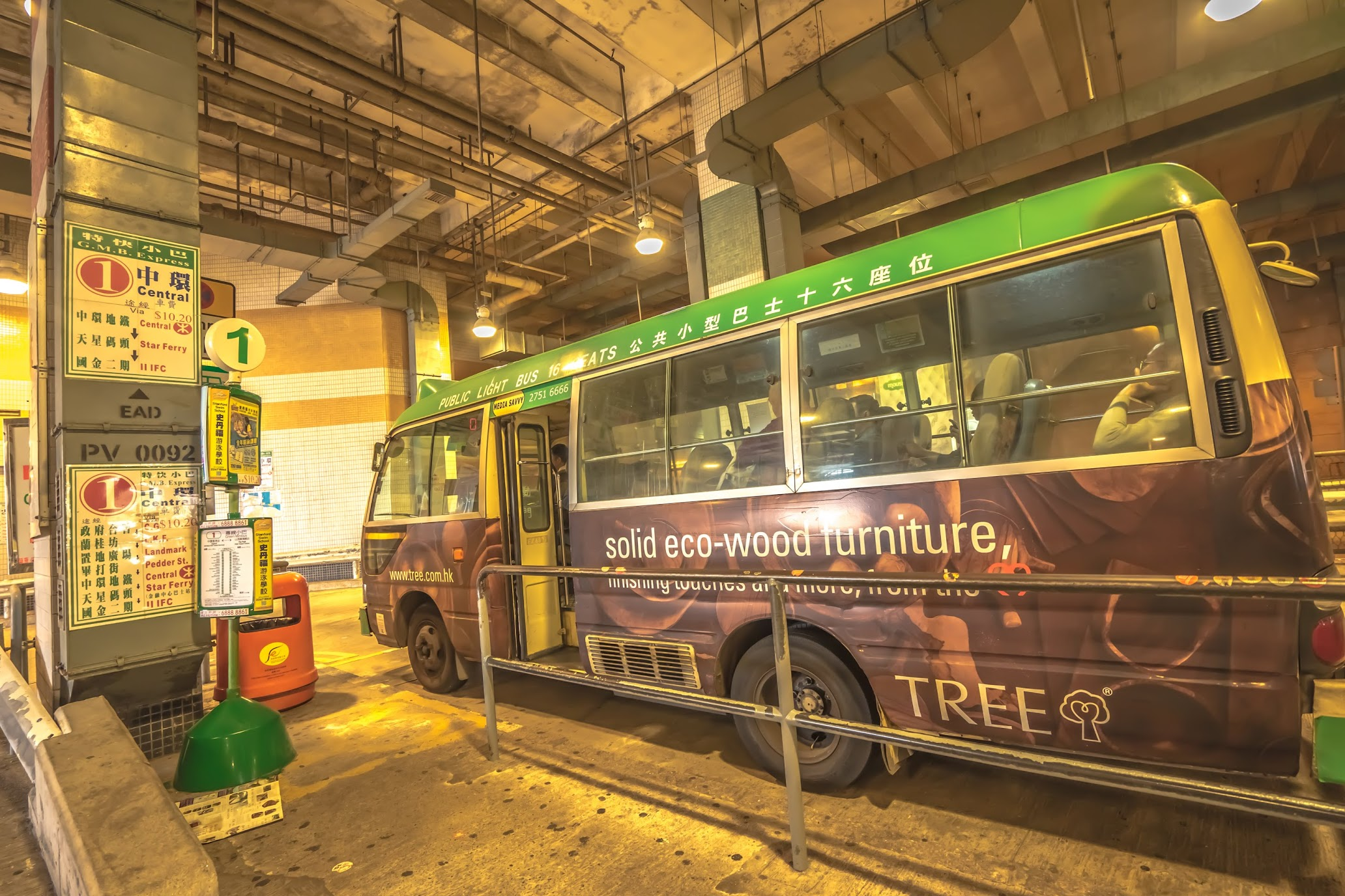 Hong Kong Victoria Peak mini bus