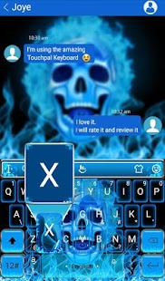 3D Skull Flame Keyboard Theme