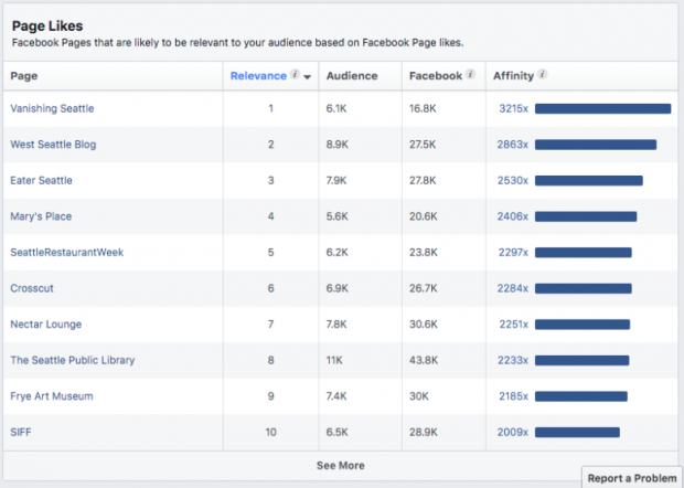 Thông tin chi tiết về đối tượng Facebook theo lượt thích trang
