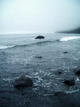 Photo: Where rocks disappear into the sea