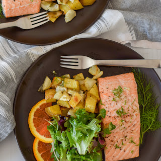 Roasted Salmon with Fennel and Potatoes Recipe