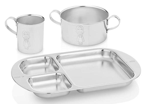 Kiddobloom toddler stainless steel set