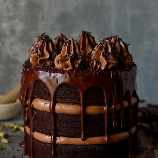 Chocolate Coffee Cardamom Layer Cake.