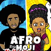 AfroMoji: African Afro Emoji Stickers Black