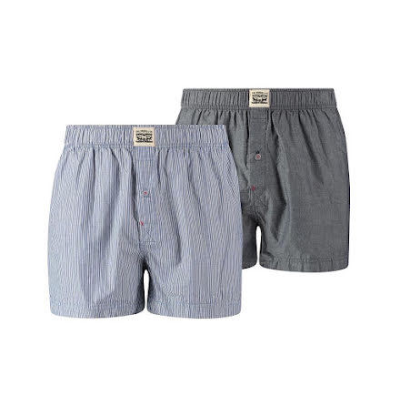 Levi's 300SF Woven boxer chambray blue jeans 2-pack