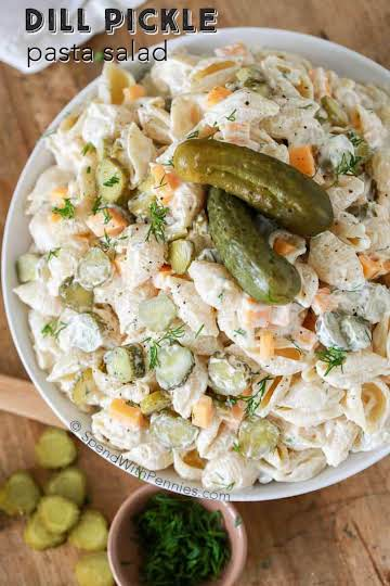 Dill Pickle Lovers Pasta Salad