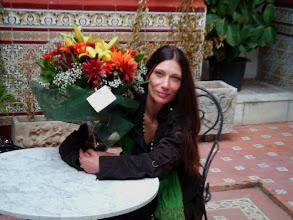 Photo: Małgorzata Matuszewska na patio hotelu Al Andaluz Jerez