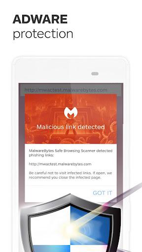 Malwarebytes Security: Virus Cleaner, Anti-Malware Screenshot