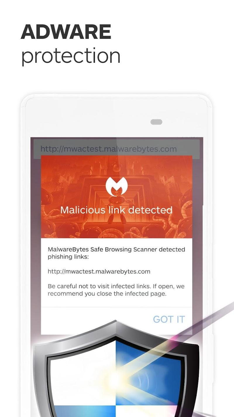 Malwarebytes Security: Virus Cleaner, Anti-Malware Screenshot 3