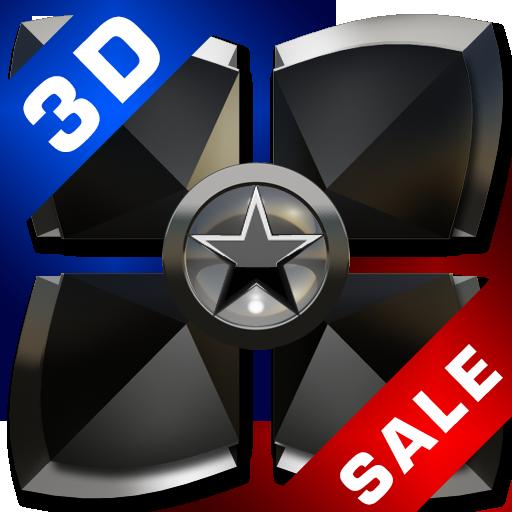 Next Launcher theme Black Star