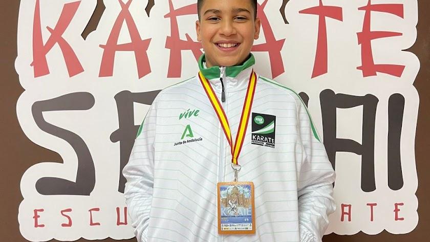 El karateka Khalil Haggouche