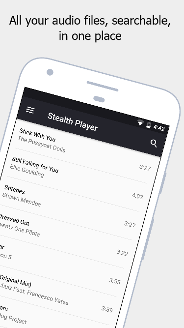 Stealth Audio Player - play audio through earpiece- screenshot