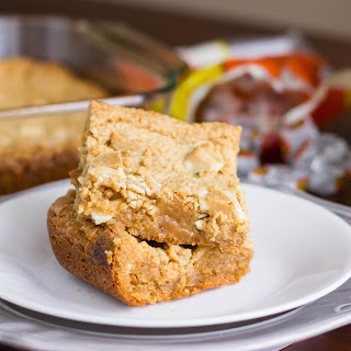 White Chocolate Peanut Butter Cup Blondies.