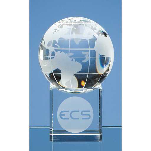 Personalised Optical Crystal Globe Award
