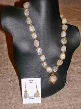 Photo: <BEREHYNYA> {Great Goddess Protectress} unique one-of-a-kind statement jewellery by Luba Bilash ART & ADORNMENT  Citrine, crackle quartz, 14K gold vermeil SOLD/ПРОДАНИЙ