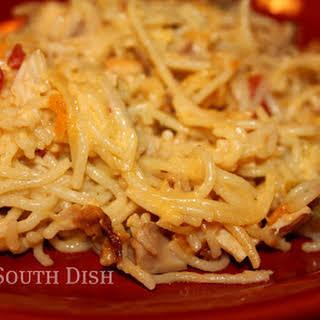 Chicken and Spaghetti Casserole.