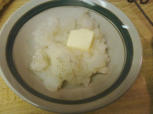Partially mash with potato masher, adding butter as you mash. Turnips will be lumpy...