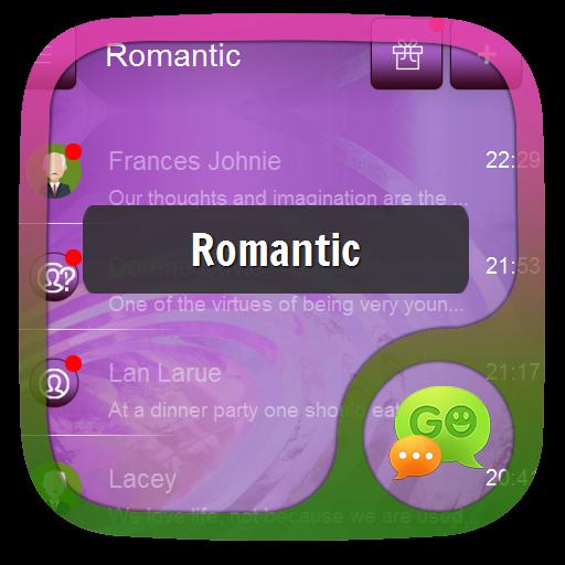 个人化のロマンチック GO SMS LOGO-記事Game