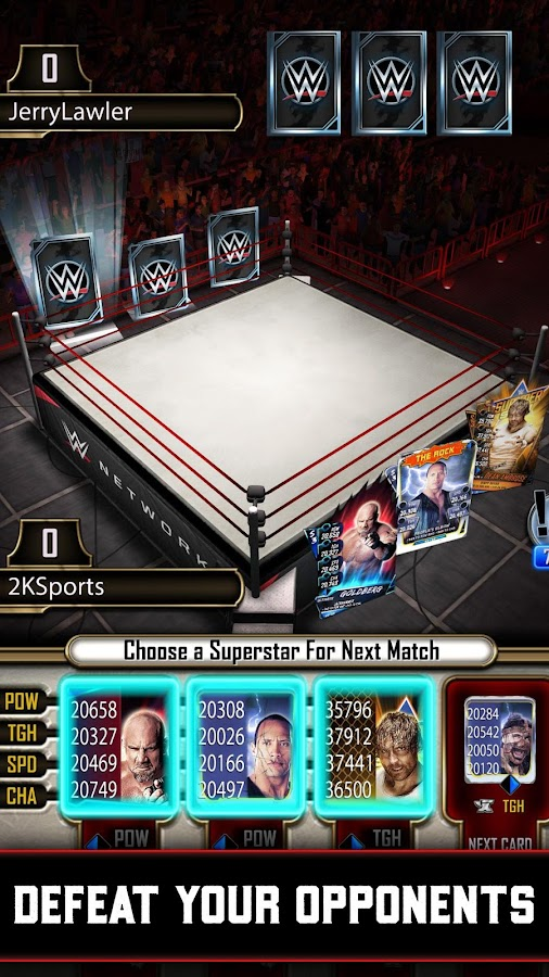 WWE SuperCard Multiplayer Card Battle Game Screenshot