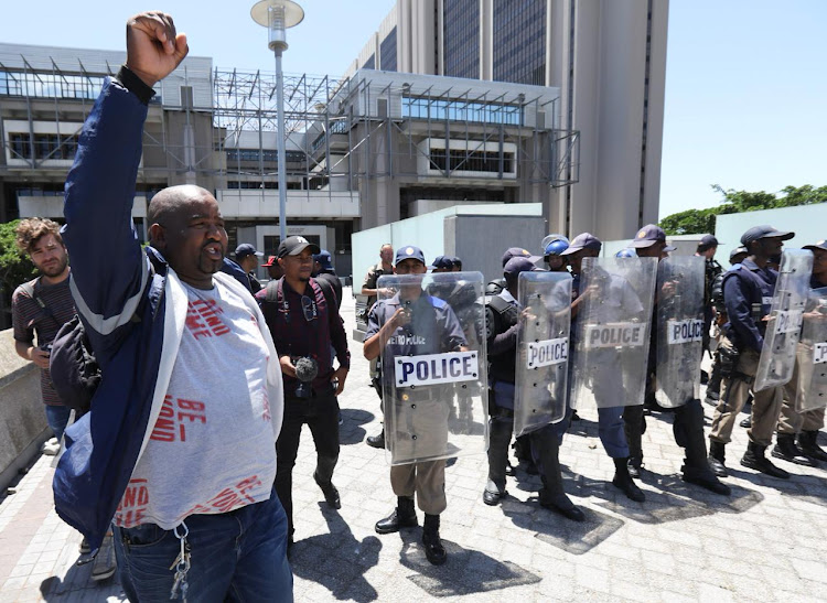 A MyCiti bus driver arrested for protesting over in-sourcing is released by police. Protesters negotiated the release of five of their comrades after they were arrested at the Civic Centre in Cape Town on Wednesday.