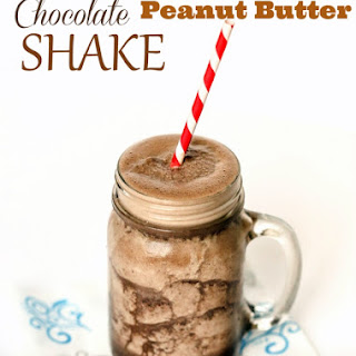 Healthy Chocolate Peanut Butter Shake.