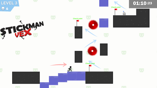 Stickman Impaled:Stick Parkour Platformer 2