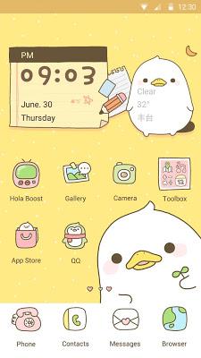 Duck Diary - Hola Theme - screenshot