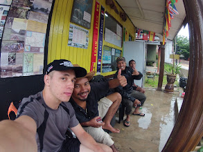 Photo: Unfortunately, my 2days1night tour through Taman Negara was cancelled at the last minute. Next to me: Haris, owner of the tourist info at Kuala Tahan, Malaysia.