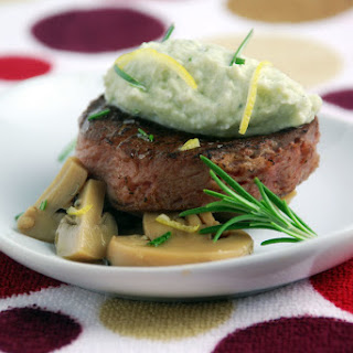Sous Vide Filet Mignon Recipe with Blue Cheese Mousse.