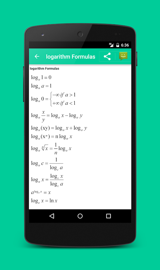 All Math formula- screenshot