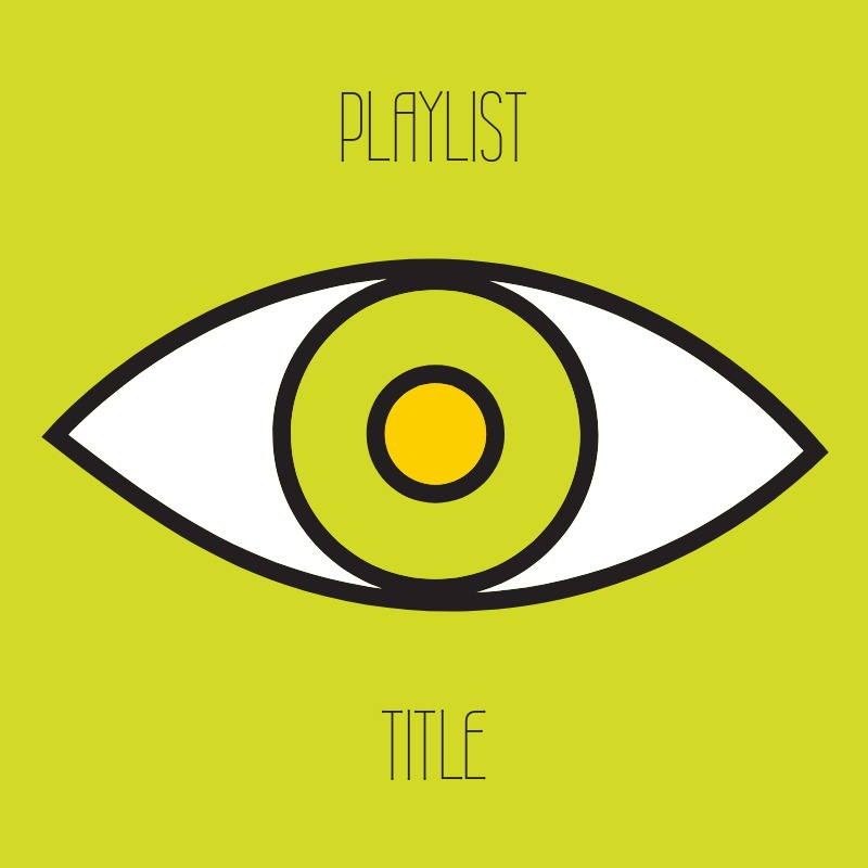 yellow playlist cover with eye