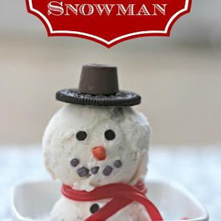 Homemade Ice Cream Snowman.
