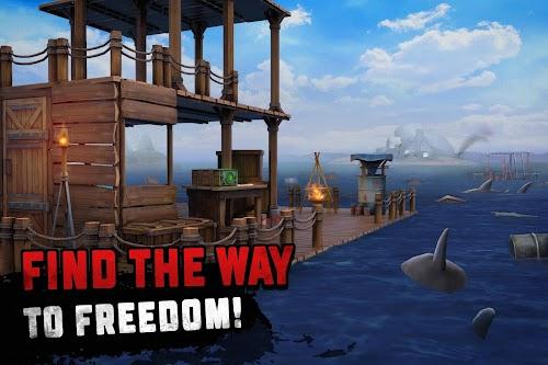 Screenshot 1 Survival on Raft: Ocean Nomad - Simulator 1.35 APK MOD