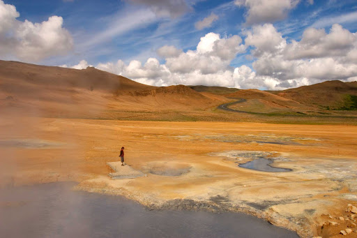 Lindblad-Expeditions-Iceland-Mud-Pits2.jpg - Observe the boiling mud pits in the geothermal area of Krafla, Iceland, on a Lindblad Expeditions tour.