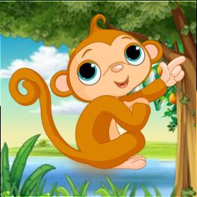Monyet lompati rintangan game untuk anak
