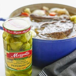 Spicy Dutch Oven Pepperoncini Pot Roast.