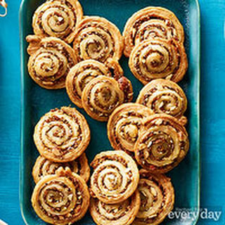 Olive-Almond Puff Pastry Pinwheels.