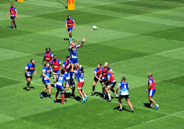 General view of players during the DHL Stormers training session and press conference at DHL Newlands Stadium on February 15, 2018 in Cape Town, South Africa.