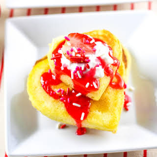 Sweetheart Buttermilk & Strawberry Mini-Pancakes!.