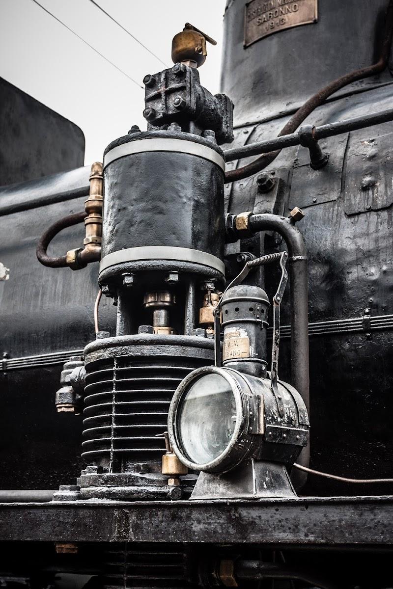 Dettagli della vecchia locomotiva di icomo