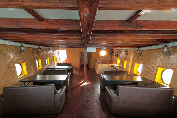 Comfortable interior of the Thai Junk Boat
