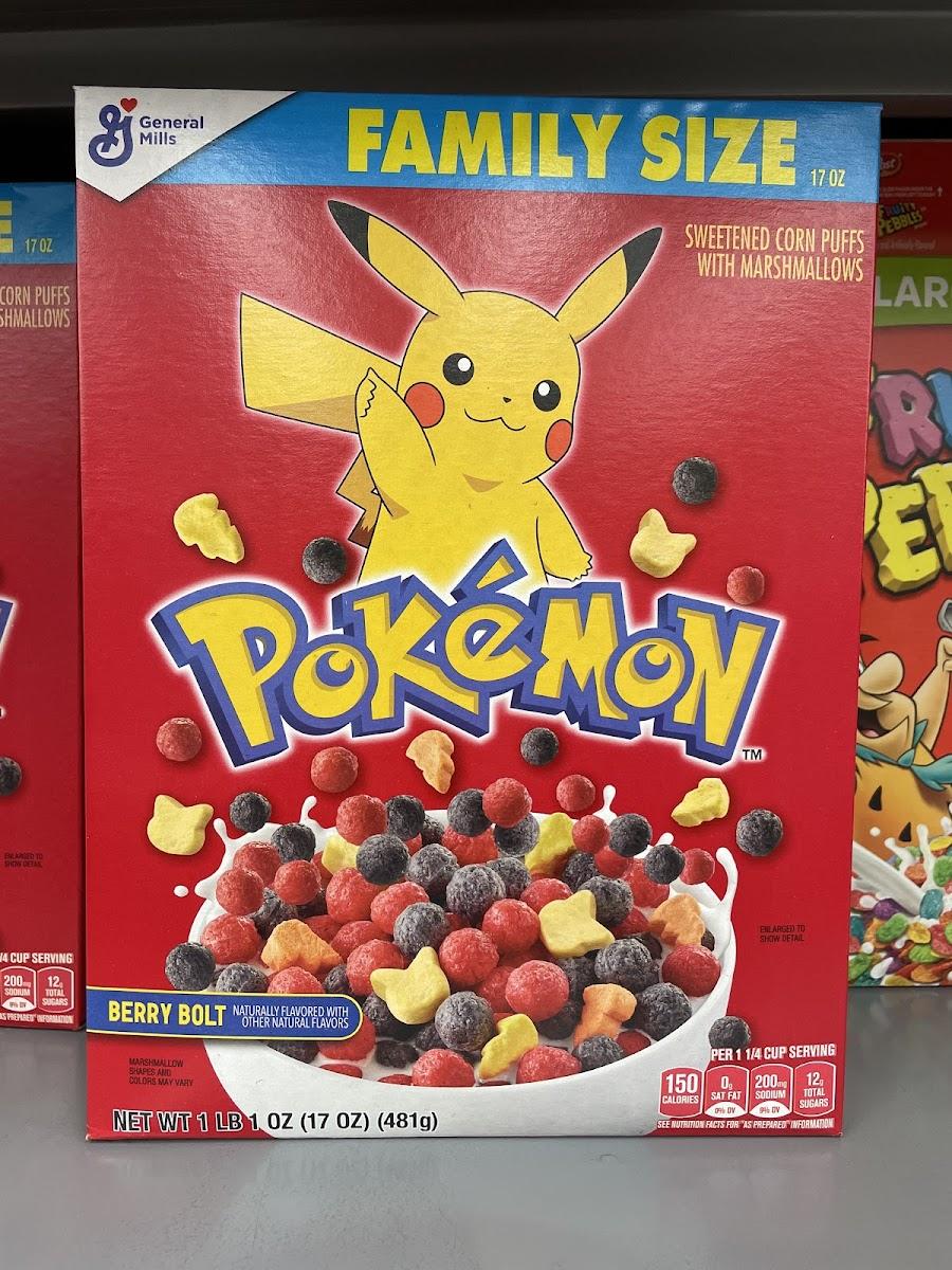 Pokémon Berry Bolt Cereal