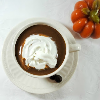 Low Sugar Hot Chocolate with Creamy Pumpkin